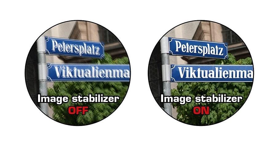 efecto tecnología de estabilizador de imagen