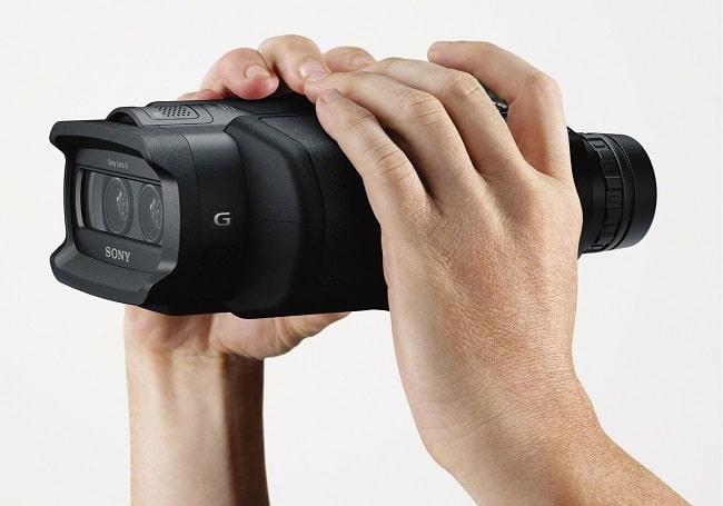 prismáticos con cámara