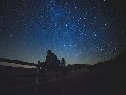 observando estrellas